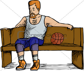 Basketball Player Resting