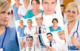 Hospital Medical Team Doctor & Nurses Men Women