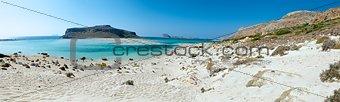 Island Balos. Panorama.