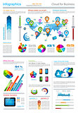 Infographic elements - set of paper tags