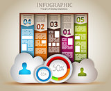Infographic elements - Cloud and Technology