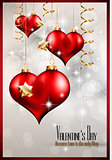 Valentine's Day party invitation flyer background