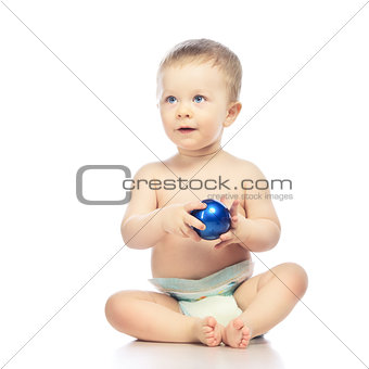 Baby With Chrismas Ball