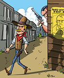 Wanted notice for cowboy