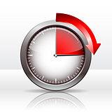 Timer clock , 15  minutes.