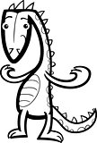 cartoon lizard or dinosaur coloring page