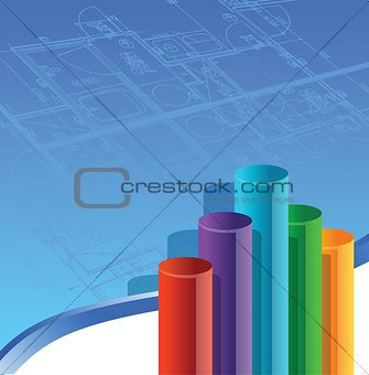Architecture Business graph illustration
