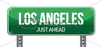 Road sign Los Angeles