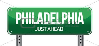 Road sign Philadelphia
