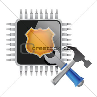 electronic chip and tools