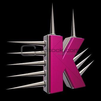 prickles letter k
