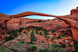 Long arch landscape view, Arches National Park, Utah