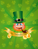 Leprechaun Head with Banner