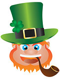 St Patricks Day Leprechaun Head Illustration
