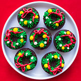 Christmas Wreath Brownies