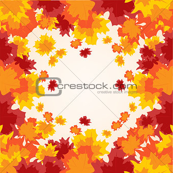 Background from autumn sheet tree