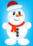 Festive snow person