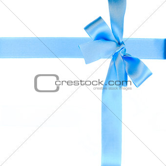 blue bow and ribbon