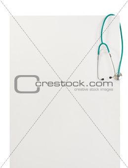 Blank billboard with stethoscope