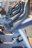Exercise bikes on display