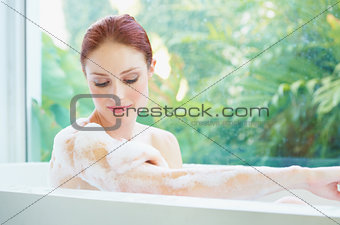 Taking a relaxing bath
