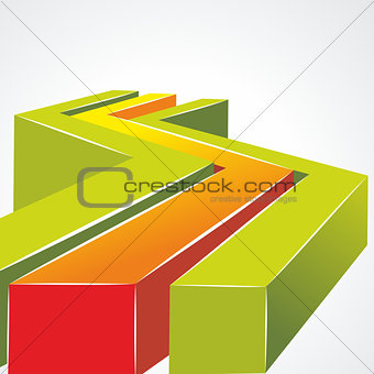 3d bright abstract background - vector illustration