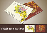 Personal business cards set