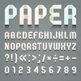 Alphabet folded of toilet pink paper