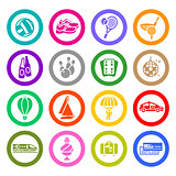 Recreation, Vacation &amp; Travel, icons set
