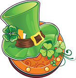 St.Patrick's Day symbol. The leprechaun's hat