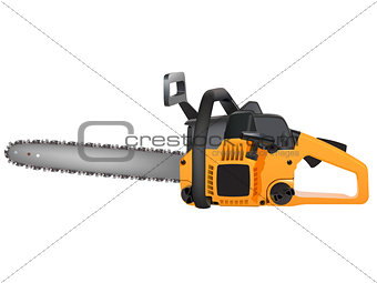 yellow chainsaw