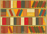 Book Background Retro Style