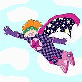 Cheerful super hero - rescuer