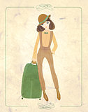 vintage fashion postcard