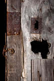 Old wooden rustic door.