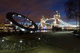 Tower Bridge by night, London