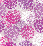 Decorative seamless flower background