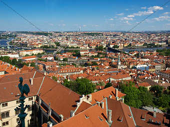 rooftops of Prague from the bell tower of the Cathedral St.Vitus