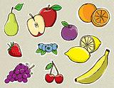 Hand Drawn Vector Fruit