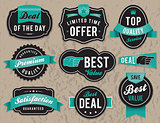 Retro business labels and badges