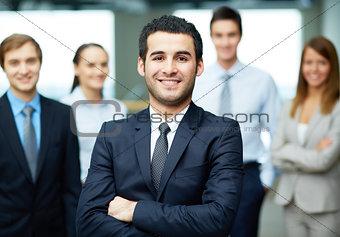 Confident leader