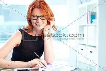 Lady in office
