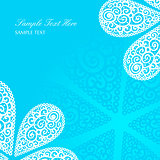 Vector blue doodle twirls background