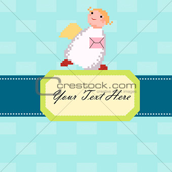 Angel with a letter card