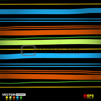 Abstract blue red green lines vector design