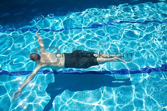 cross man swimmer diving