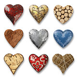 Assortment of hearts