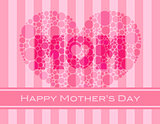Happy Mothers Day Polka Dots Heart
