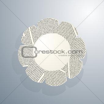 Sample text floral frame