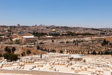 Jerusalem View With Cemetery
